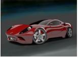 ...a red car...