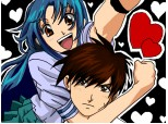 Chidori and Sousuke [Full Metal Panic]