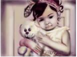 A LITTLE GIRL WHIT A TEDDYBEAR