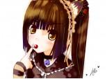 Anime Girl Cat