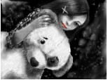 ..A girl and her tedy bear :)