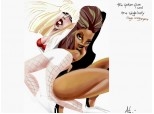 Lady Gaga and Beyonce(caricaturi/cartoon)