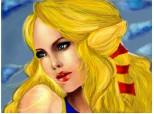 blonda cu ochii albastii