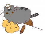 Pusheen c are face pizza