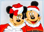 mickey mouse & minnie