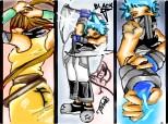 Black star(dark blade technician) & arma lui Tsubaki(dark demon blade)