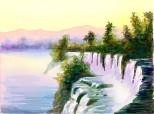 peisaj cu cascada