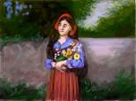 fata cu florile
