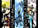 Maka(SCHYTE TECHNICIAN) & Soul(DEMON SCHITE)^^
