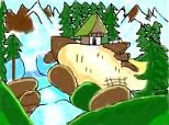 Cabana de langa cascada