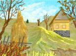 Desen 35632 modificat:peisaj de toamna