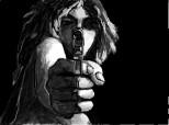 ...girl with gun...