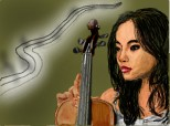 girl with violin