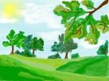 Desen 75855 continuat:peisaj