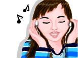 Desen 106927 continuat:listening to music