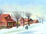 iarna in sat
