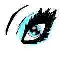 un ochisor albastru