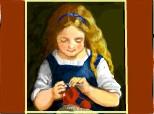 fetita tricotand